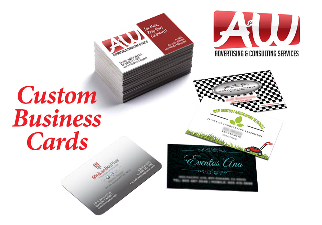 Printing solutions aw advertising consulting services for Custome business cards